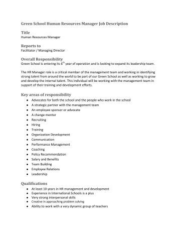 nice human resource manager job description pictures grand