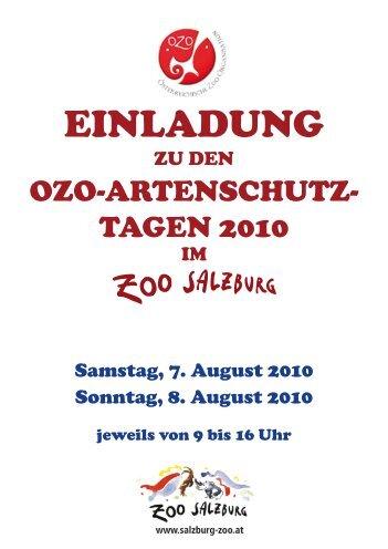 Einladung Artenschutztage 2010.indd - Arche Austria