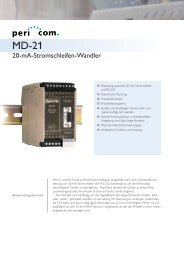 20-mA-Stromschleifen-Wandler - Pericom AG