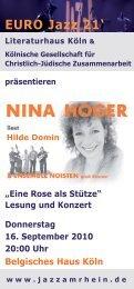 Veranstaltungsflyer (als pdf-Datei) - Kölnische Gesellschaft für ...