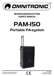 USER MANUAL PAM-150 Portable-PA-system