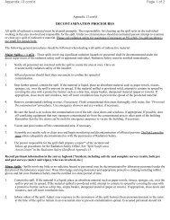 DECONTAMINATION PROCEDURES Page 1 of 2 Appendix 13 cont'd