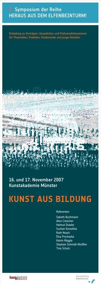 KUNST AUS BILDUNG - Montag Stiftungen