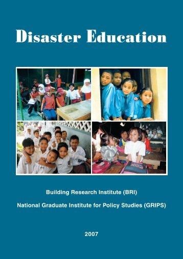 Disaster Education [PDF 10.68 MB] - PreventionWeb