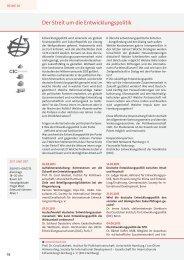 Der Streit um die Entwicklungspolitik - Universität Hamburg