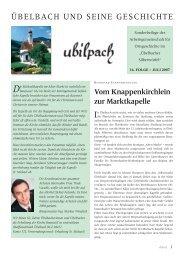 ÜBELBACH UND SEINE GESCHICHTE - Marktgemeinde Übelbach