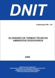 Glossário de Termos Técnicos Ambientais Rodoviários - IPR - Dnit