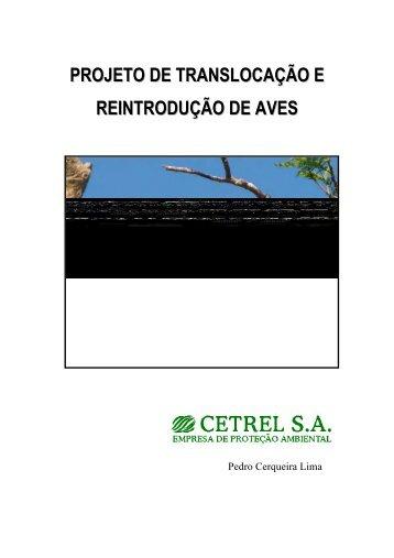 Projeto de translocação e reintrodução de aves - Atualidades ...