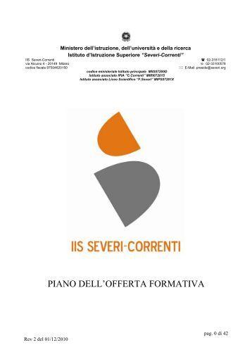 Piano dell'Offerta Formativa (P.O.F.) - IIS Severi-Correnti