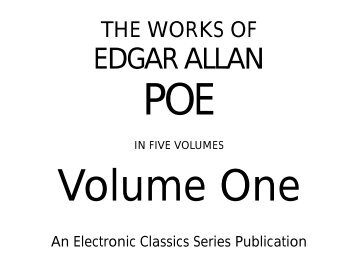 analysis of edgar allan poes literature Read the full-text online edition of literary criticism of edgar allan poe (1965) literature and it helped if he was something of a professional writer himself the literary public expected essays which were well written and which embodied a distinctive literary or political point of view.