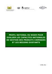 profil national du niger pour evaluer les capacites ... - UNITAR