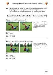 Sporthopraktic der Sport-Integrations-Aufbau Zuerst ... - FC Solothurn