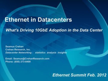 Ethernet in Datacenters - Ethernet Technology Summit