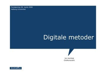 Digitale metoder - IT in Civil Engineering. Aalborg University ...