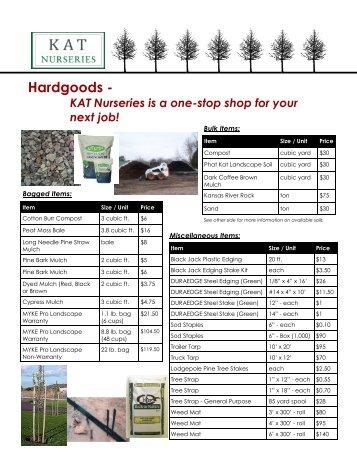 Hardgoods Kat Nurseries
