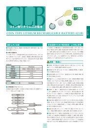 CLB電池ユニット カタログ [PDF 1.82MB] - Maxell