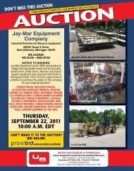 Jay-Mar Equipment - United Auctioneers & Appraisers