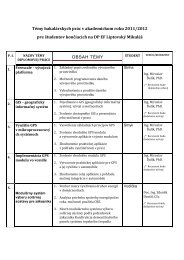 Témy bakalárskych prác v akademickom roku 2011/2012 pre ...