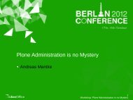 Plone Administration is no Mystery - LibreOffice Conference