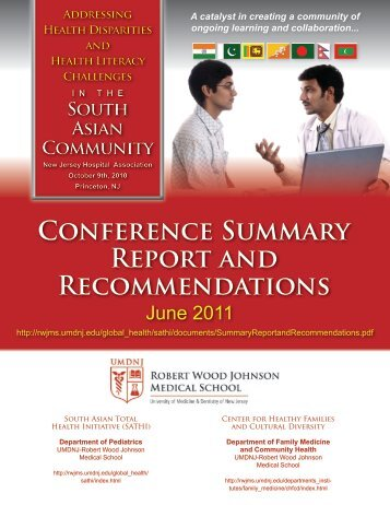CONFERENcE SUMMARy REPORt ANd REcOMMENdAtiONS