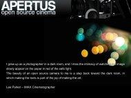Apertus - open source cinema camera