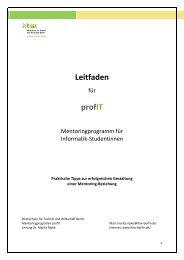 profIT Mentoring Leitfaden - Informatik und Wirtschaft als ...