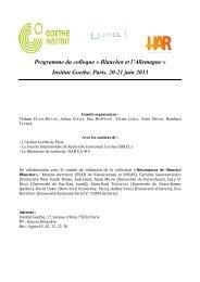 Programme du colloque « Blanchot et l'Allemagne - Société ...