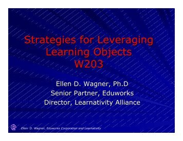 Strategies for Leveraging Learning Objects W203 - Pttmedia.com ...