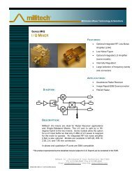 to download the MIQ product datasheet - Millitech