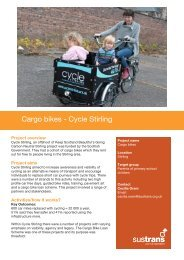 Cargo bikes Cycle Stirling - Sustrans