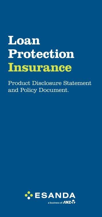 Loan Protection Insurance - Esanda