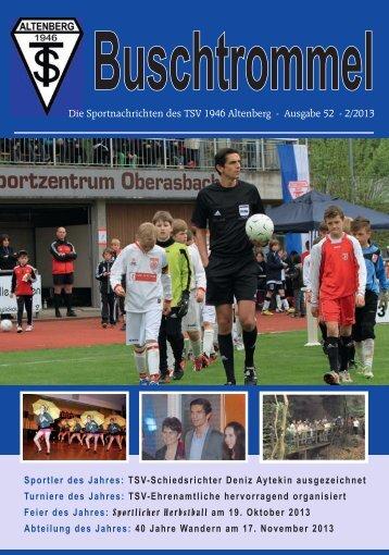 Die Sportnachrichten des TSV 1946 Altenberg - Ausgabe 52 - 2/2013