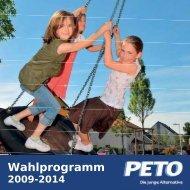 Wahlprogramm herunterladen (pdf, 841 kb) - Peto