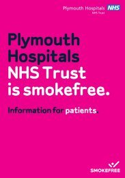 Download the information leaflet for patients - Plymouth Hospitals ...
