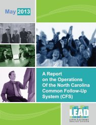 2013 Common Follow-Up System Operational Report