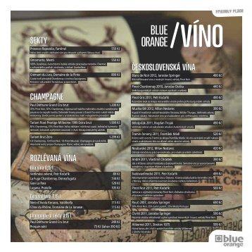 Vinný lístek ke stažení - Blue Orange