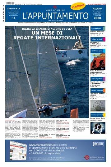 UN MESE DI REGATE INTERNAZIONALI - Sardegna