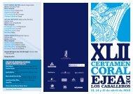 Programa del XLII Certamen Coral de Ejea - Ejea Digital