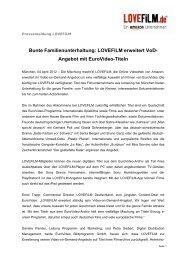Bunte Familienunterhaltung: LOVEFiLM erweitert VoD- Angebot mit ...
