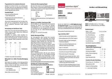 Anleitung zum Lokdecoder SLX832/SLX833 - MDVR