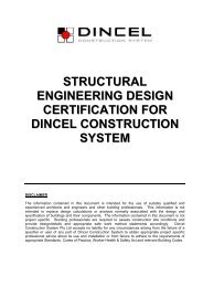 Structural Engineering Design Certification - Dincel Construction ...