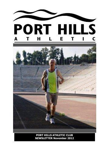 PHA Webletter Nov 2012.pub - Port Hills Athletic Club