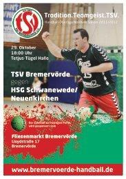 27432 Bremervörde Telefon 04761/2623 - TSV Bremervörde Handball