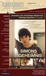 SIMONS GEHEIMNIS - Thalia Kino