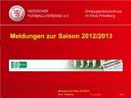 Meldungen zur Saison 2012/2013 - Kreis Friedberg