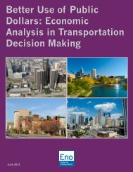 Better Use of Public Dollars: Economic Analysis in Transportation ...