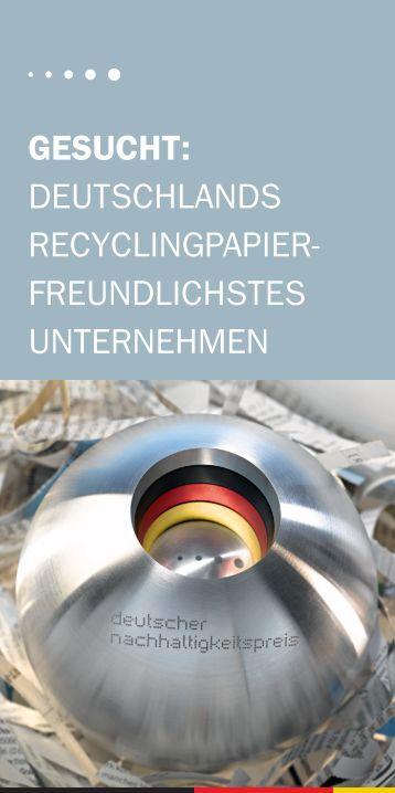 Wettbewerbsflyer zum Sonderpreis Recyclingpapier ... - Papiernetz