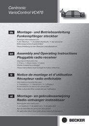 Becker Centronic VarioControl VC470 Anleitung - auf enobi.de