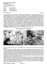 Rundbrief – April 2005 - The Dog Rescue Center Samui