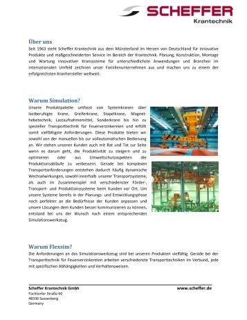 3D Simulation - Scheffer Krantechnik